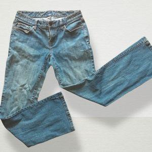 Ann Taylor Loft Blue Curvy Boot Jeans